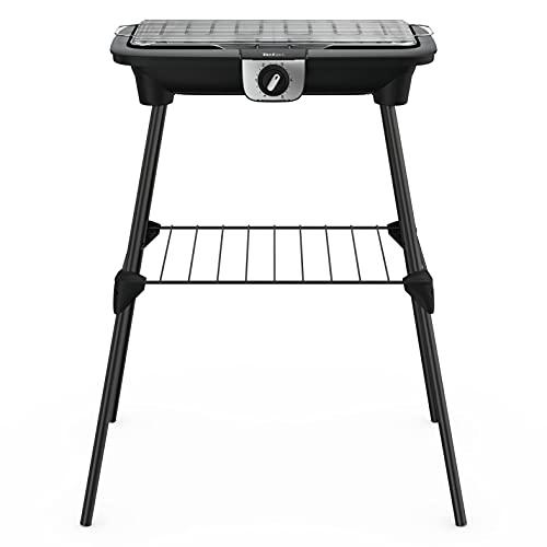 Tefal BG921812 Easy Grill XXL - Barbacoa eléctrica sobre patas y mesa (2500 W,...