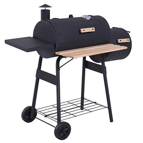 Outsunny Barbacoa de Carbón 3 en 1 Ahumador Parilla de Carbón Barbacoa de BBQ...