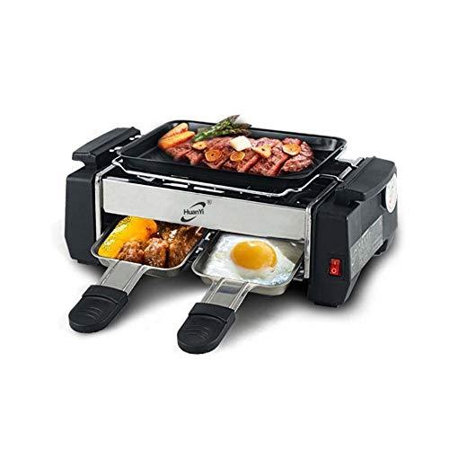 #N/V 1000 W de alta potencia antiadherente familia barbacoa eléctrica Raclette...