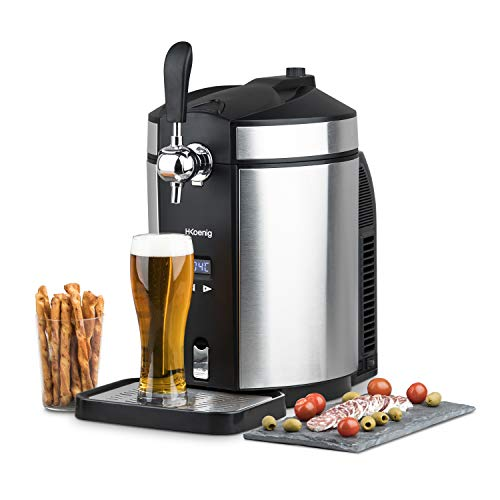 H.Koenig BW1880 Tirador de Cerveza Compatible, 65 W, 5 kg, Acero Inoxidable,...