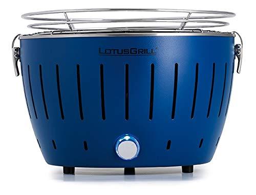 LotusGrill - Barbacoa compacta en 6 colores, azul intenso