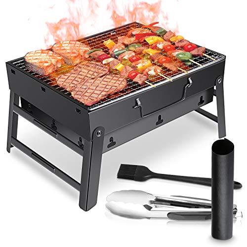 WOSTOO Barbacoa de Carbón, Portátil BBQ Plegable Parrilla Barbacoa de Carbón...